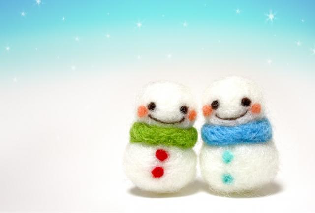 冬 雪だるま